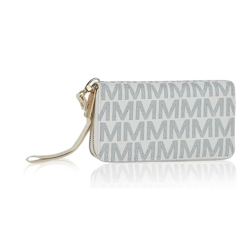 MKF Collection Kirbi M Embossed Designer Wallet by Mia K.