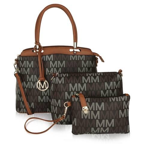 MKF Collection Cammy Set Handbag/Pouch/Wristlet by Mia K.