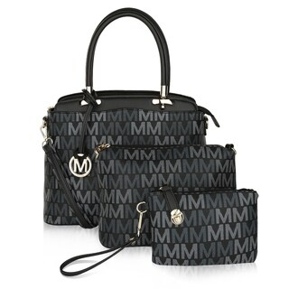 MKF Collection Cammy Set Handbag/Pouch/Wristlet by Mia K Farrow