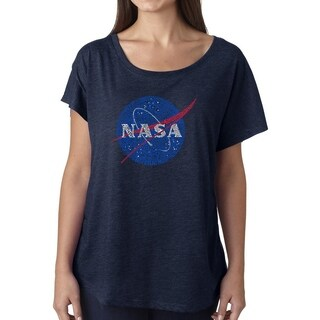 Los Angeles Pop Art Dolman Word Art Shirt - NASA's Most Notable Missions (More options available)