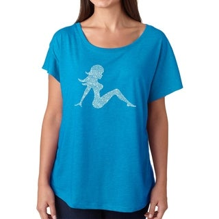 Los Angeles Pop Art Dolman Word Art Shirt - MUDFLAP GIRL (More options available)