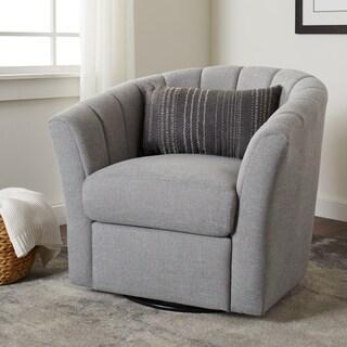 Stone and Stripes Chloe Grey Swivel Chair