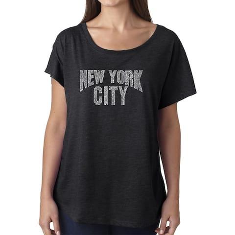 Los Angeles Pop Art Dolman Word Art Shirt - NYC NEIGHBORHOODS