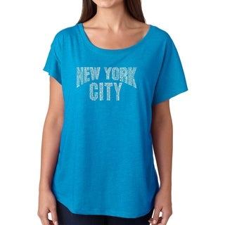 Link to Los Angeles Pop Art Dolman Word Art Shirt - NYC NEIGHBORHOODS Similar Items in Tops