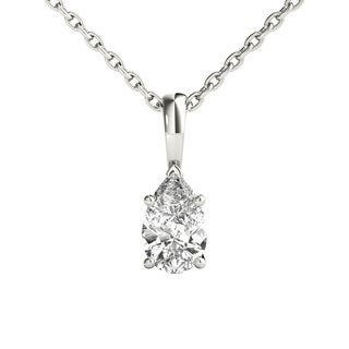 Seraphina 14k Gold 0.30ct TDW Pear Cut Diamond Pendant Necklace