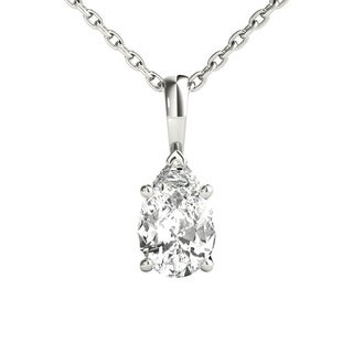 Seraphina 18k Gold 1/2ct TDW Pear Cut Diamond Pendant Necklace