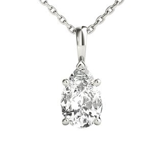 Seraphina 18k Gold 0.70ct TDW Pear Cut Diamond Pendant Necklace