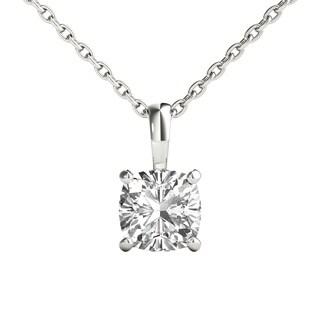 Seraphina 14k Gold 0.70ct TDW Cushion Cut Diamond Pendant Necklace