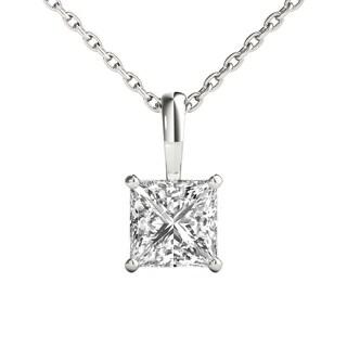 Seraphina 14k Gold 0.70ct TDW Princess Cut Diamond Pendant Necklace