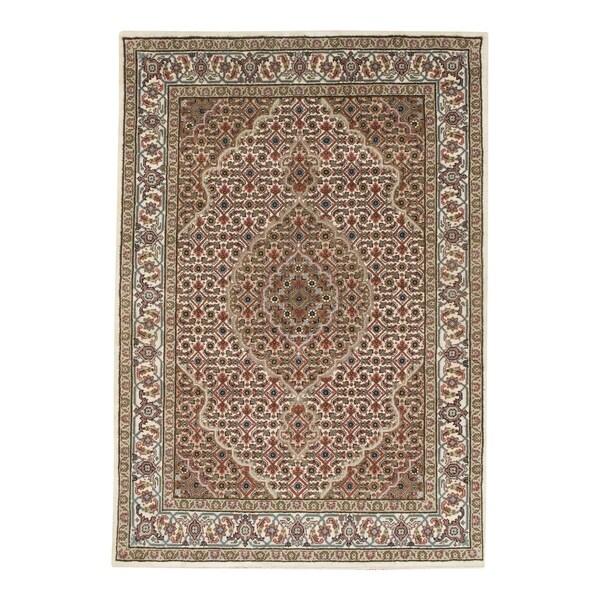 Shop Pasargad NY Handmade Tabriz Mahi Brown Wool Design