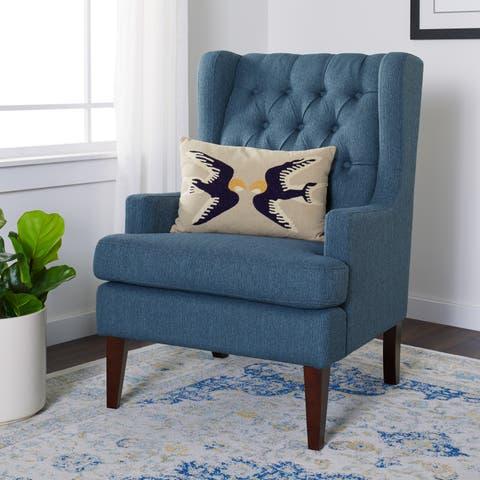 Porch & Den Maxine Blue Arm Chair