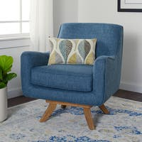 Stone and Stripes Owen Blue Swivel Chair