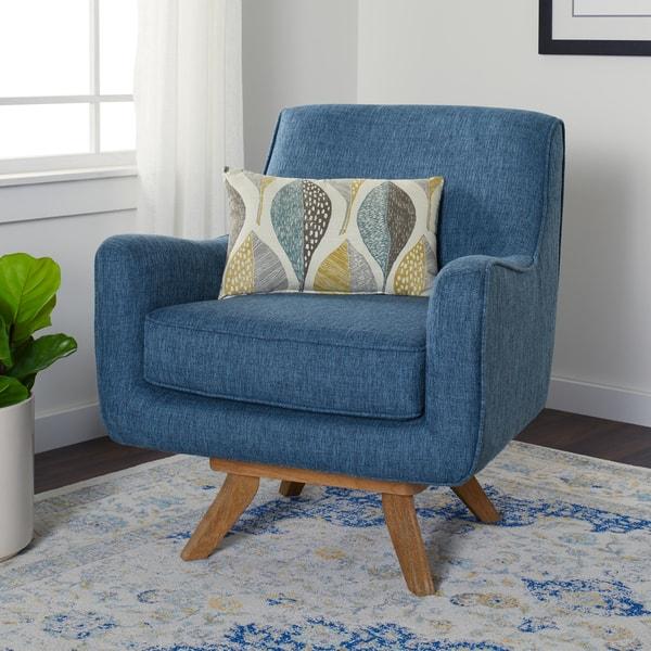 Excellent Shop Carson Carrington Owen Blue Swivel Chair Free Unemploymentrelief Wooden Chair Designs For Living Room Unemploymentrelieforg