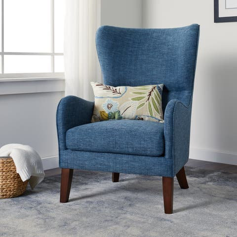 Carson Carrington Meredith Blue Arm Chair