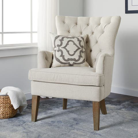 The Gray Barn Jeanne Creme Arm Chair