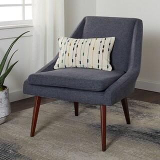 Shop Delano Grey Stripe Accent Chair On Sale Free