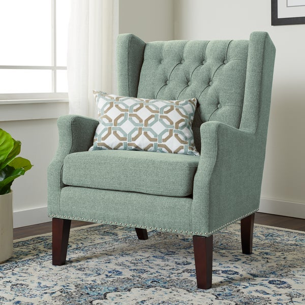 Shop Jasper Laine Brynn Seafoam Arm Chair Free Shipping