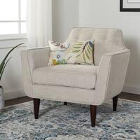 Carson Carrington Taupe Ana Arm Chair