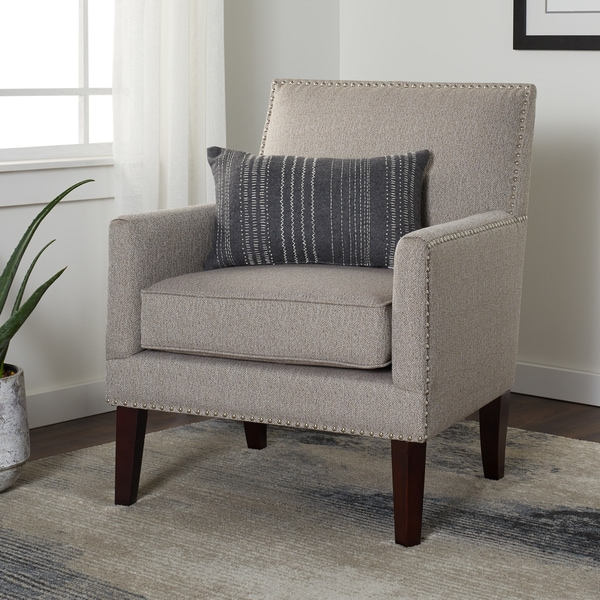 Strick & Bolton Baxter Taupe Arm Chair