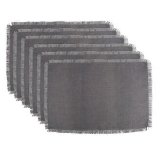 Design Imports Gray Jute Kitchen Placemat Set (Set of 6)