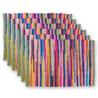 Design Imports Multi-Color Rag Kitchen Placemat Set (Set of 6)