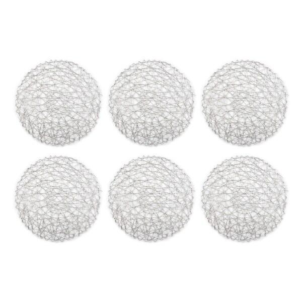 Shop Design Imports Round Woven Paper Silver Kitchen