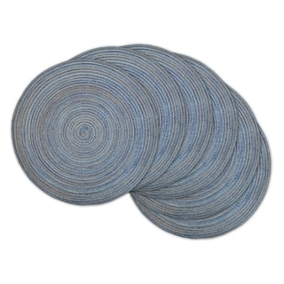 Design Imports Round Woven Variegated Polypropylene Kitchen Placemats