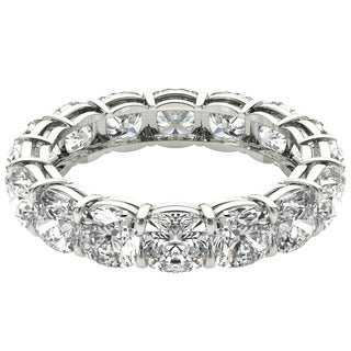 Seraphina 18k White Gold 6ct TDW Cushion Cut Diamond Eternity Ring