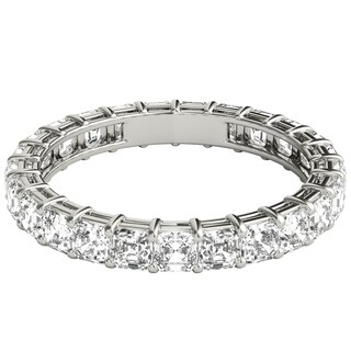 Seraphina 18k White Gold 2ct TDW Asscher Cut Diamond Eternity Ring