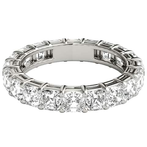 Seraphina 18k White Gold 4ct TDW Asscher Cut Diamond Eternity Ring