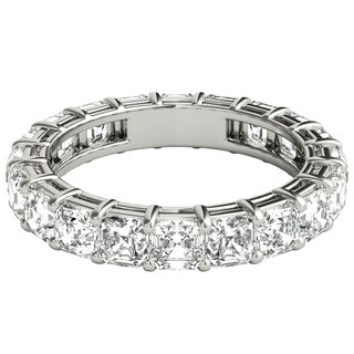 Seraphina Platinum 4ct TDW Asscher Cut Diamond Eternity Ring