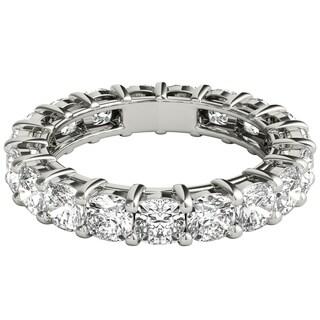 Seraphina Platinum 4 1/2ct TDW Cushion Cut Diamond Eternity Ring