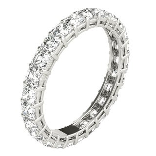 Seraphina Platinum 2ct TDW Asscher Cut Diamond Eternity Ring