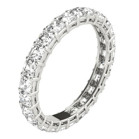 Seraphina Platinum 2ct TDW Asscher Cut Diamond Eternity Ring