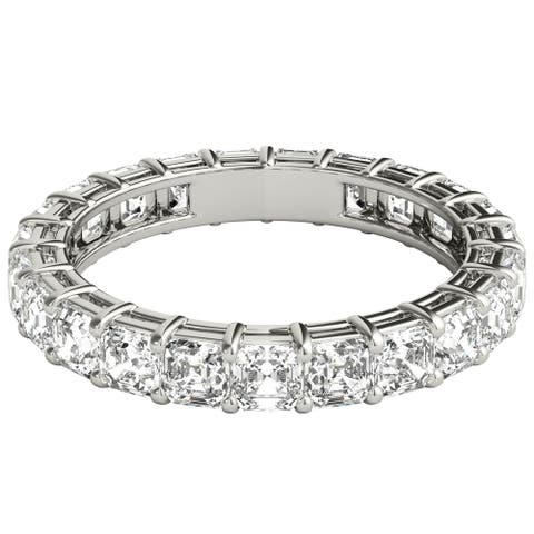 Seraphina 18k White Gold 3ct TDW Asscher Cut Diamond Eternity Ring