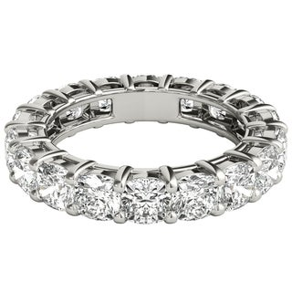 Seraphina 18k White Gold 5ct TDW Cushion Cut Diamond Eternity Ring