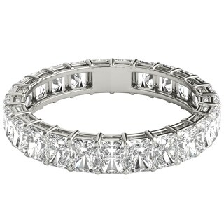 Seraphina 18k White Gold 3ct TDW Radiant Cut Diamond Eternity Ring