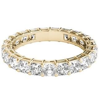 Seraphina 18k Yellow Gold 3ct TDW Asscher Cut Diamond Eternity Ring