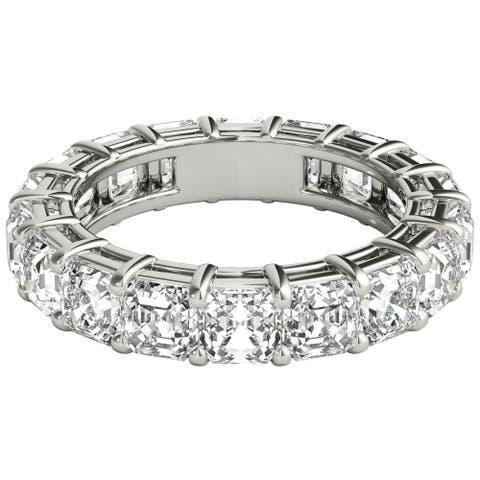 Seraphina 18k White Gold 5ct TDW Asscher Cut Diamond Eternity Ring