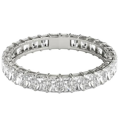 Seraphina 18k White Gold 2ct TDW Radiant Cut Diamond Eternity Ring