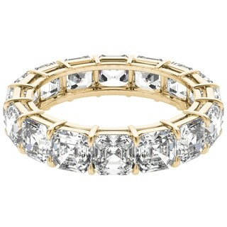 Seraphina 18k Yellow Gold 6ct TDW Asscher Cut Diamond Eternity Ring