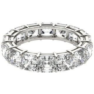 Seraphina 18k White Gold 6ct TDW Asscher Cut Diamond Eternity Ring