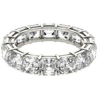 Seraphina 18k White Gold 6ct TDW Asscher Cut Diamond Eternity Ring