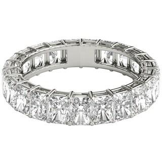 Seraphina 18k White Gold 6ct TDW Radiant Cut Diamond Eternity Ring