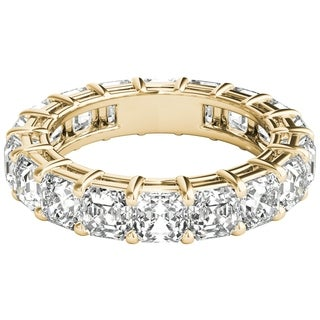 Seraphina 18k Yellow Gold 5ct TDW Asscher Cut Diamond Eternity Ring