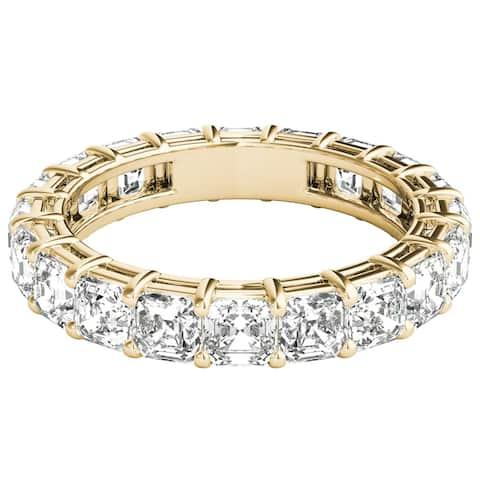 Seraphina 18k Yellow Gold 4ct TDW Asscher Cut Diamond Eternity Ring