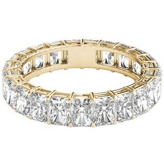 Seraphina 18k Yellow Gold 6ct TDW Radiant Cut Diamond Eternity Ring