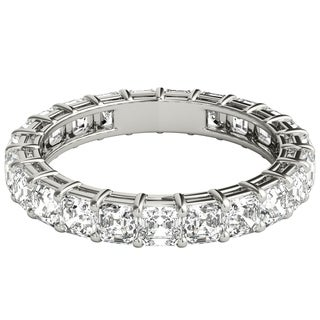 Seraphina Platinum 3ct TDW Asscher Cut Diamond Eternity Ring