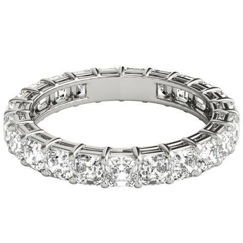 Seraphina Platinum 3ct TDW Asscher Cut Diamond Eternity Ring