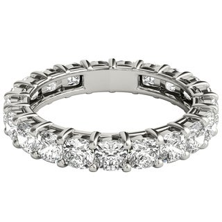 Seraphina Platinum 3ct TDW Cushion Cut Diamond Eternity Ring